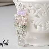 Украшения handmade. Livemaster - original item Long earrings with stones. Handmade.
