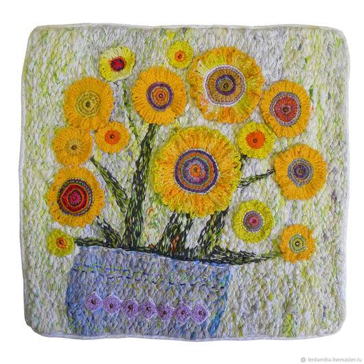 Картины цветов ручной работы. Ярмарка Мастеров - ручная работа. Купить жёлтый букет. Handmade. Желтый, букет цветов