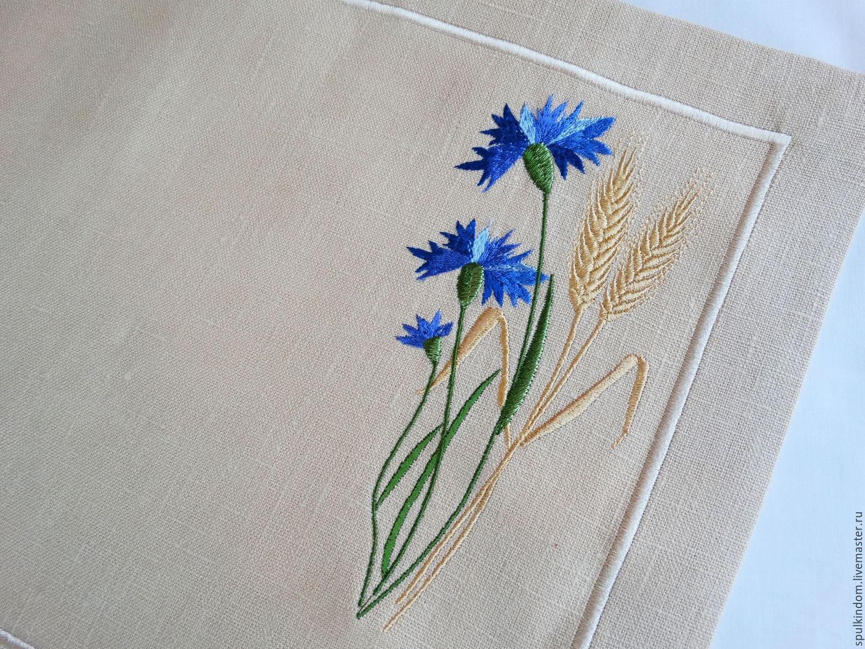 Рисунок вышивки васильки