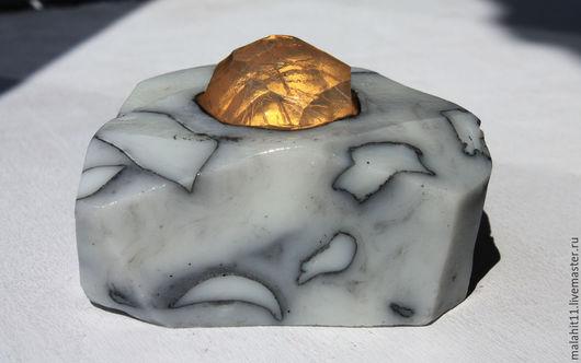 Мыло ручной работы. Ярмарка Мастеров - ручная работа. Купить Кристалл кварца в мраморе. Handmade. Чёрно-белый, подарок на новый год