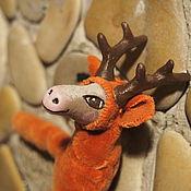 Куклы и игрушки ручной работы. Ярмарка Мастеров - ручная работа елочная игрушка Олень старший. Handmade.