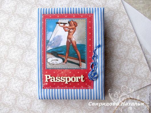 Обложки ручной работы. Ярмарка Мастеров - ручная работа. Купить Обложка для паспорта в морском стиле.. Handmade. Обложка, обложка для паспорта