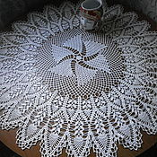 """Для дома и интерьера ручной работы. Ярмарка Мастеров - ручная работа Скатерть - салфетка, 88 см, """"Птица счастья"""". Handmade."""