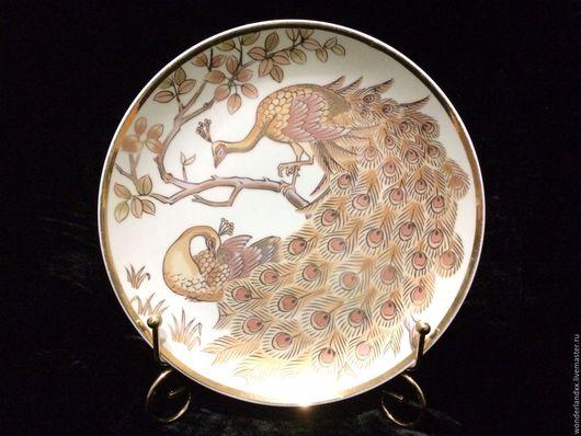 Винтажные предметы интерьера. Ярмарка Мастеров - ручная работа. Купить Декоративная тарелка, Япония. Handmade. Комбинированный