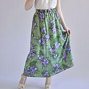 Одежда handmade. Livemaster - original item Skirt made of natural silk Summer. Handmade.