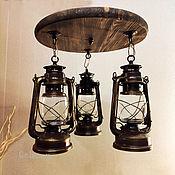 Потолочные и подвесные светильники ручной работы. Ярмарка Мастеров - ручная работа Люстра Керосиновая лампа электрическая светильник лофт ретро сканди. Handmade.