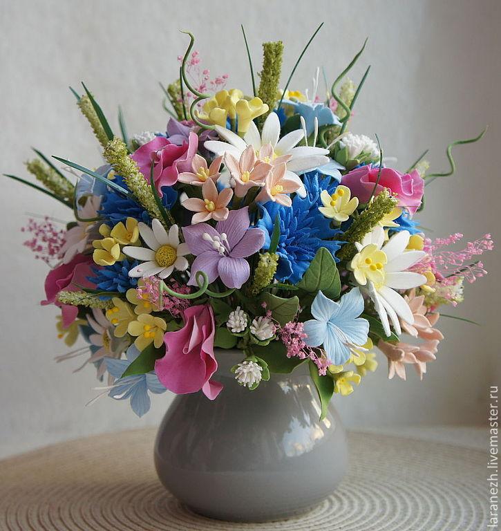 Букет полевых цветов заказать необычные подарки потом подарок женщине а также оригинальные подарки