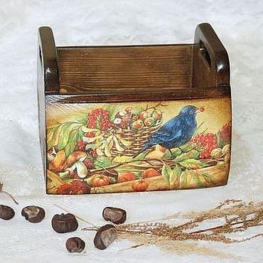 """Для дома и интерьера ручной работы. Ярмарка Мастеров - ручная работа Короб для хранения """"Осенний урожай"""". Handmade."""