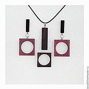 Jewelry Sets handmade. Livemaster - original item Stylish jewelry rectangular shape.. Handmade.