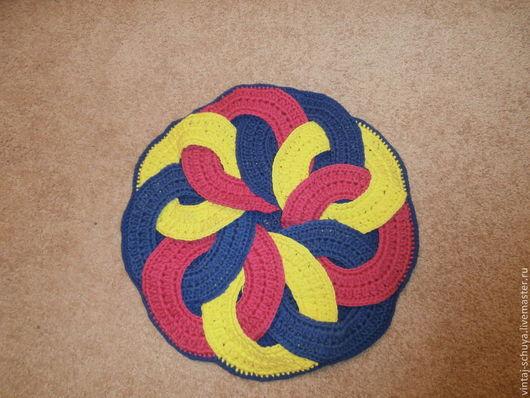 Текстиль, ковры ручной работы. Ярмарка Мастеров - ручная работа. Купить японский коврик. Handmade. Коврик крючком, японский коврик