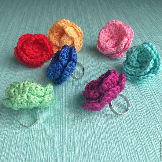Кольца ручной работы. Ярмарка Мастеров - ручная работа. Купить Колечки Розочки. Handmade. Кольцо, кольцо с цветком, украшение