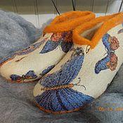 """Обувь ручной работы. Ярмарка Мастеров - ручная работа тапочки """"Бабочки"""". Handmade."""