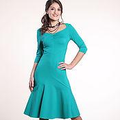 Одежда ручной работы. Ярмарка Мастеров - ручная работа 031:платье повседневное, платье с воланом, платье офисное. Handmade.