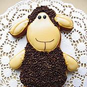 """Сувениры и подарки ручной работы. Ярмарка Мастеров - ручная работа """"Шоколадная овечка""""-имбирный пряник.. Handmade."""