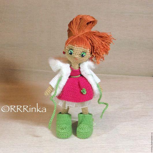 Человечки ручной работы. Ярмарка Мастеров - ручная работа. Купить Кукла Алиса. Handmade. Кукла, подарок на новый год, каркасная кукла