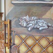 Дизайн и реклама ручной работы. Ярмарка Мастеров - ручная работа Роспись холодильника Уютный очаг. Handmade.