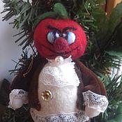 """Подарки к праздникам ручной работы. Ярмарка Мастеров - ручная работа """"Синьор Помидор"""" елочная игрушка. Handmade."""