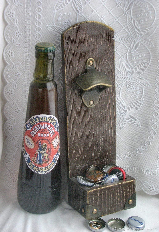 Открывашка настенная для пивных бутылок, Оформление бутылок, Томск,  Фото №1