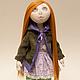 Коллекционные куклы ручной работы. Ярмарка Мастеров - ручная работа. Купить Кукла Натали. Handmade. Сиреневый, подарок девочке