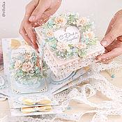 """Подарки ручной работы. Ярмарка Мастеров - ручная работа Свадебный подарок """"Сберкнижка-коробочка для молодоженов"""". Handmade."""