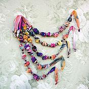 Украшения ручной работы. Ярмарка Мастеров - ручная работа Текстильные бусы. Handmade.