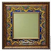 Для дома и интерьера handmade. Livemaster - original item Mirror Pavloposad shawl Painting ceramics. Handmade.