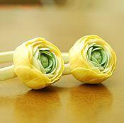 Работы для детей, ручной работы. Ярмарка Мастеров - ручная работа Резиночки для волос с цветком. Резиночки из полимерной глины. Handmade.