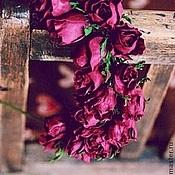 """Украшения ручной работы. Ярмарка Мастеров - ручная работа Ободок из бутонов роз """"Бордо"""". Handmade."""