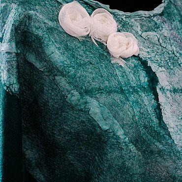 "Одежда ручной работы. Ярмарка Мастеров - ручная работа Женская валяная блузка ""Изумрудная"". Handmade."