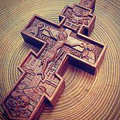 Украшения handmade. Livemaster - original item A pectoral cross made of Pear. Handmade.