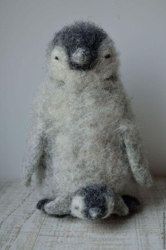 Игрушки животные, ручной работы. Ярмарка Мастеров - ручная работа. Купить Мама Пингви. Handmade. Серый, пингвины, день матери