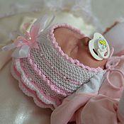 """Шапки ручной работы. Ярмарка Мастеров - ручная работа Вязанная шапочка для новорожденной девочки""""бабочка"""". Handmade."""