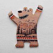 """Сувениры и подарки ручной работы. Ярмарка Мастеров - ручная работа Магнит """"Превед, Медвед!"""". Handmade."""