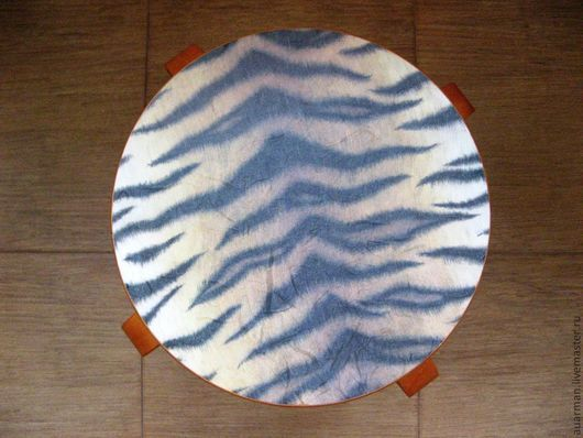 Мебель ручной работы. Ярмарка Мастеров - ручная работа. Купить Табурет деревянный декупаж Тигр. Handmade. Мебель из дерева, для кухни