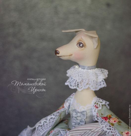 Кукла ручной работы. Игрушка собачка. Коллекционная интерьерная текстильная кукла. Красивые куклы и игрушки Томашевской Ирины.