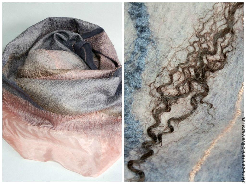 scarf felted Tea rose, Scarves, Barnaul,  Фото №1