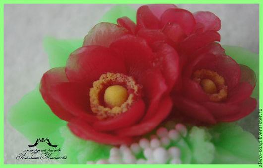 """Мыло ручной работы. Ярмарка Мастеров - ручная работа. Купить """"Букет Анемонов"""" сувенирное мыло. Handmade. Анемоны, цветы"""