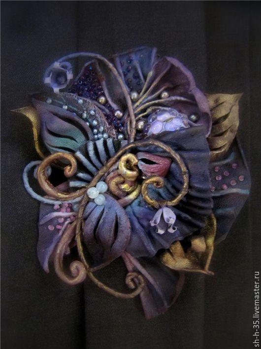 """Броши ручной работы. Ярмарка Мастеров - ручная работа. Купить Брошь """"Заклинание"""". Handmade. Комбинированный, фиолетовый цвет"""