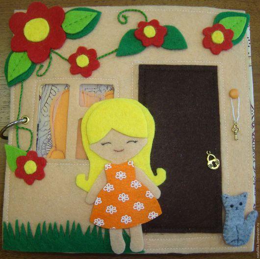 """Развивающие игрушки ручной работы. Ярмарка Мастеров - ручная работа. Купить Развивающая книжка """"Кукольный домик"""". Handmade. Комбинированный"""