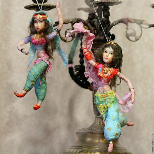Человечки ручной работы. Ярмарка Мастеров - ручная работа. Купить Гарем, куколки из ваты. Handmade. Комбинированный, подарок женщине, клейстер