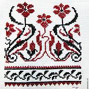Русский стиль ручной работы. Ярмарка Мастеров - ручная работа Вышивка штор в русском стиле крестиком, также на любой одежде. Handmade.