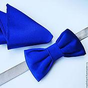 Аксессуары handmade. Livemaster - original item Tie Silk Italy Royal Blue. Handmade.