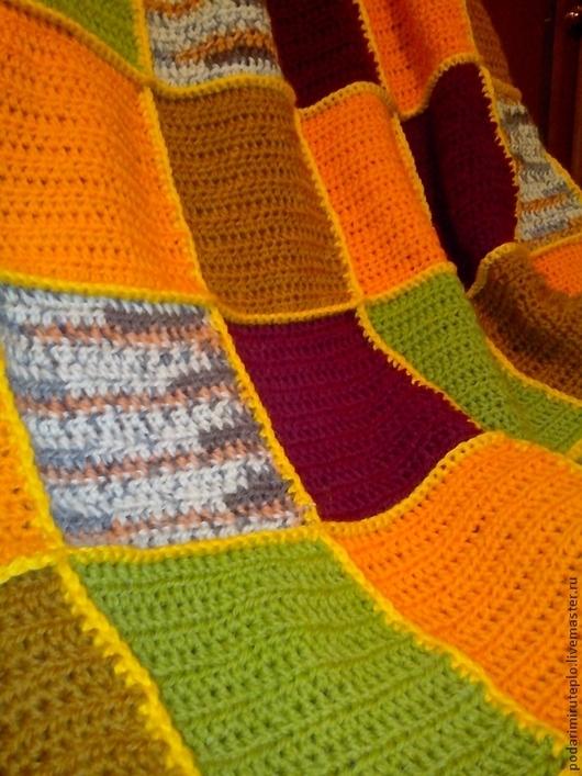 Текстиль, ковры ручной работы. Ярмарка Мастеров - ручная работа. Купить Шерстяной плед. Handmade. Одеяло, подарок на любой случай