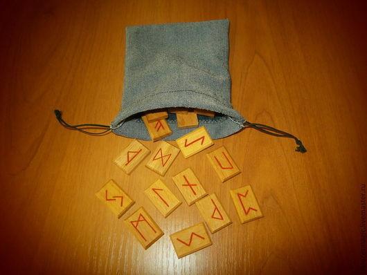 Гадания ручной работы. Ярмарка Мастеров - ручная работа. Купить Мешочек для Рун из джинсовой ткани. Handmade. Руны, заготовки для рун