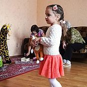 Работы для детей, ручной работы. Ярмарка Мастеров - ручная работа Платье детское вязаное шерстяное. Handmade.