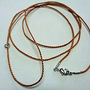 Украшения handmade. Livemaster - original item Silk cord beige 1,5 mm with a lock for any suspension. Handmade.