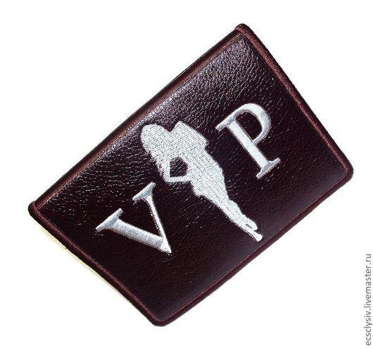 """Обложки ручной работы. Ярмарка Мастеров - ручная работа. Купить Обложка для паспорта """"VIP"""". Handmade. Обложка, обложка для документов, презент"""