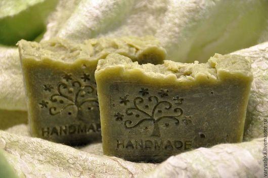 """Мыло-шампунь ручной работы. Ярмарка Мастеров - ручная работа. Купить """"Лавровый венок"""" твёрдый шампунь. Handmade. Зеленый"""