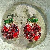 Украшения ручной работы. Ярмарка Мастеров - ручная работа Брошь из полудрагоценных камней,кожи, бисера,чешских бусин. Handmade.