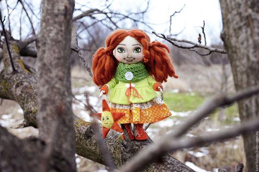 Куклы тыквоголовки ручной работы. Ярмарка Мастеров - ручная работа. Купить Кукла текстильная ручной работы. Handmade. Рыжий, dolls